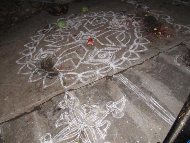 Mandala Pooja Rangoli Rangoli or Chalk Mandala